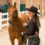 Student shows her horse at the Legends of Ranching Performance Horse Sale