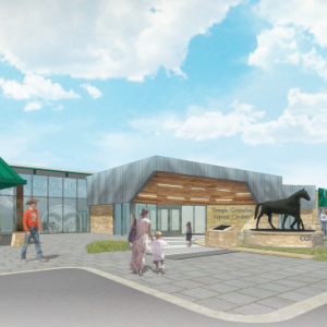Proposed entrance to the Temple Grandin Equine Center