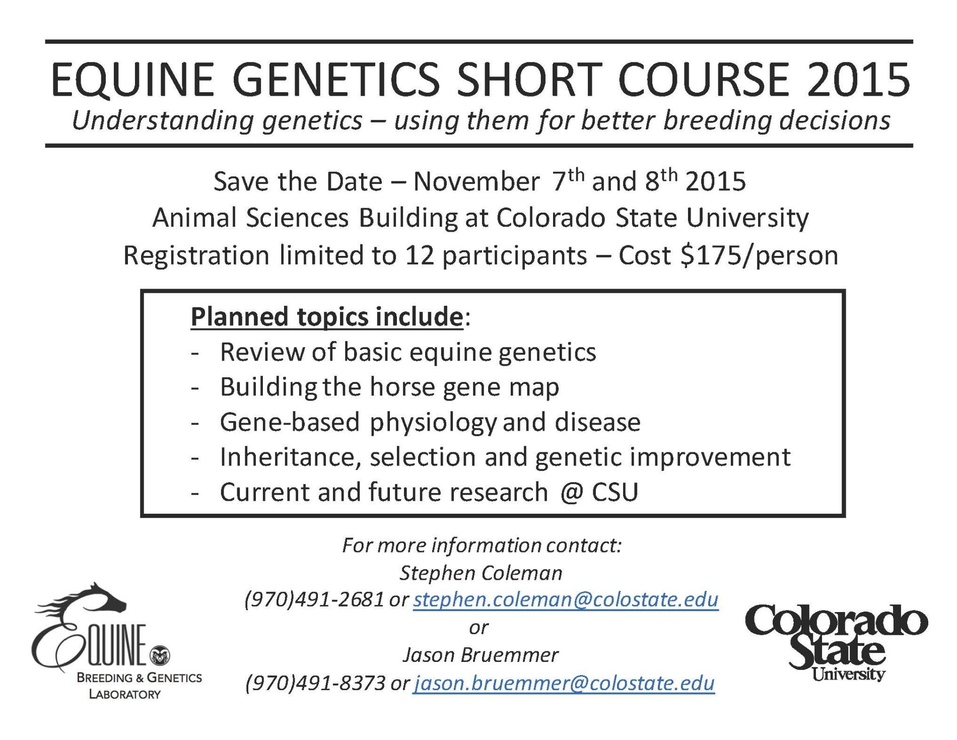 Genetic coursework